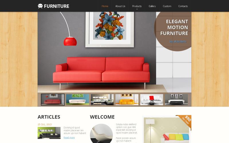 Möbler responsiv webbplats mall