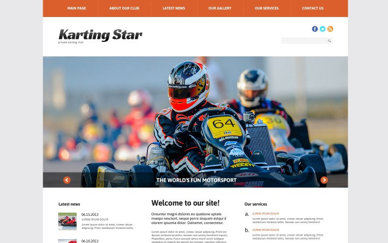 Responsief WordPress-thema voor Karting