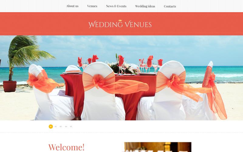 Responsiv webbplatsmall för bröllopsplanerare