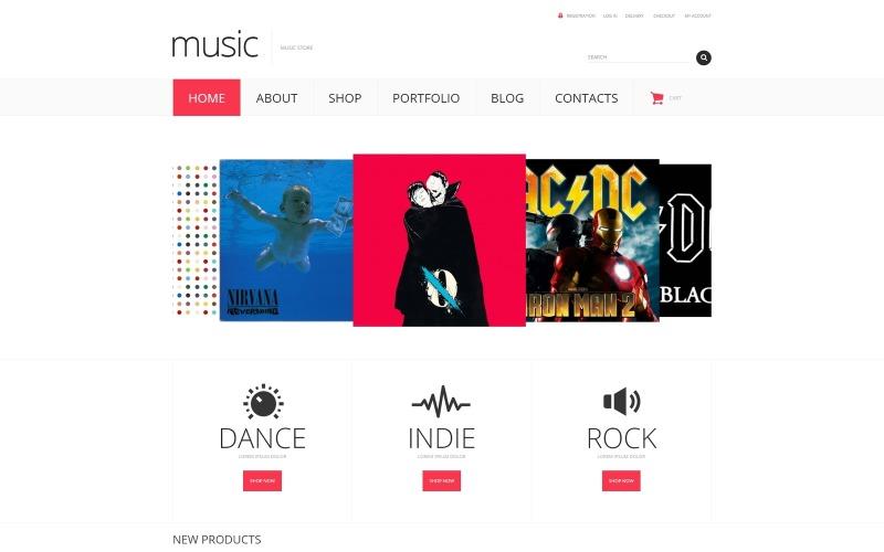 Responsivt WooCommerce-tema för musikbutik