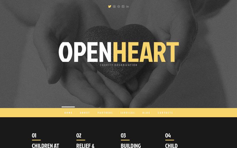 Välgörenhetsresponsivt WordPress-tema
