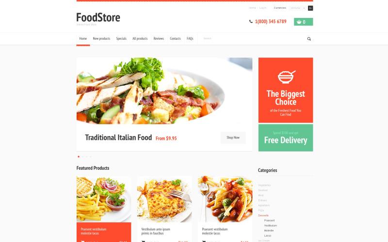 Välsmakande mat ZenCart-mall