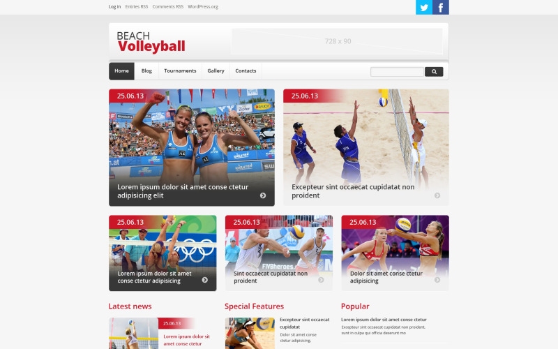 Volleybal Responsive WordPress Theme