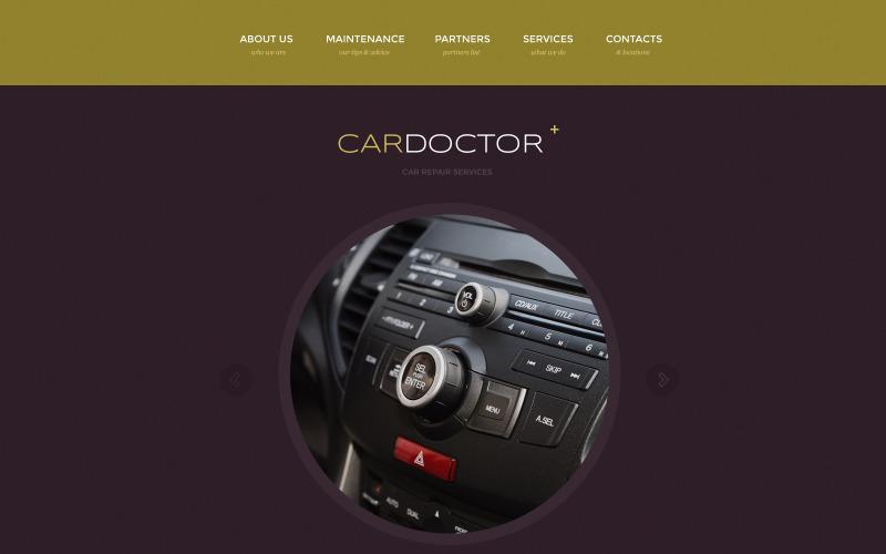 Bilreparations responsiv webbplatsmall