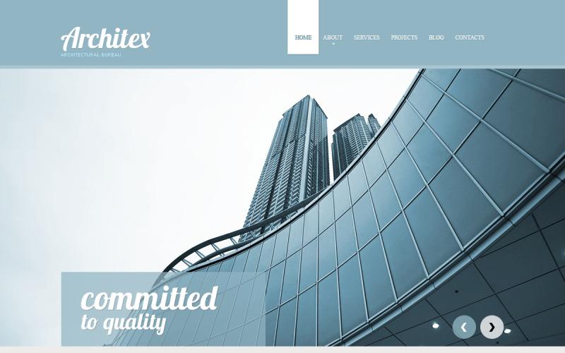 Byggföretag Responsive webbplats mall