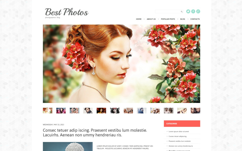 Fotovideoblogg WordPress-tema