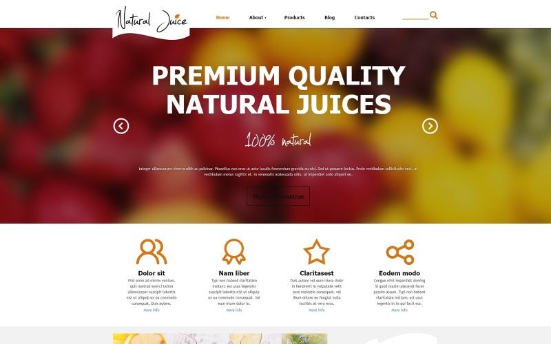 Joomla-mall för fruktjuice