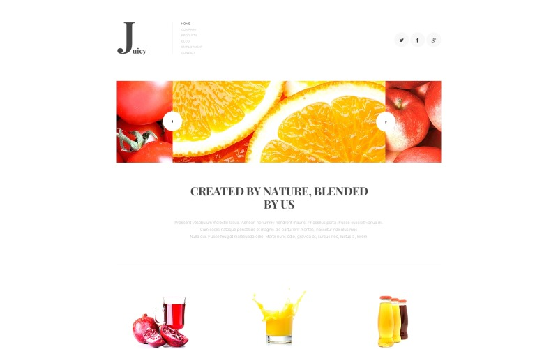 Juice Company Joomla-mall