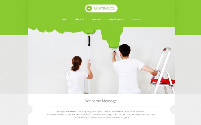 Målarbetsföretagets responsiva webbplatsmall