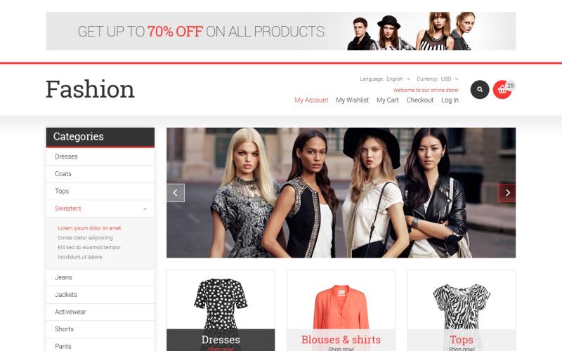 Modebutiken Responsive Magento Theme