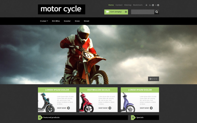 Motor Cycle PrestaShop Theme