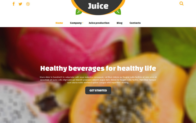 Responsiv Joomla-mall för mat och dryck