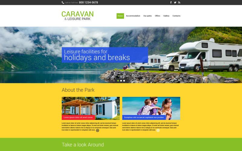 Responsive Website-Vorlage für das Sommercamp