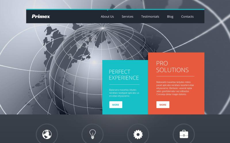 Responsivt WordPress-tema för outsourcing av företag