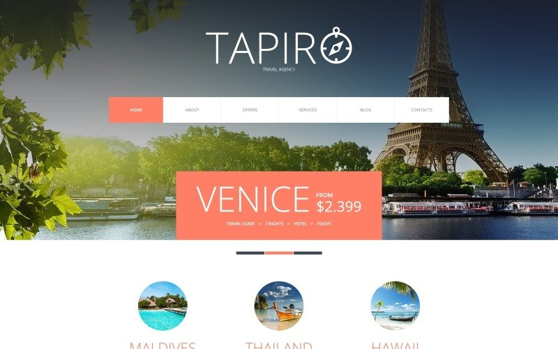 Travel Website Joomla Template