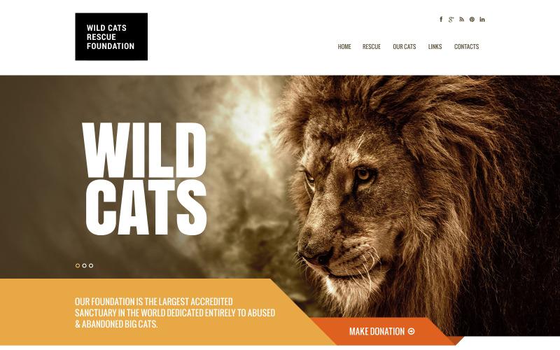 Wild Life Responsive webbplatsmall