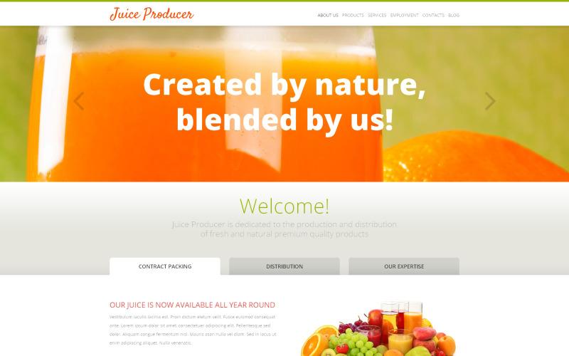 WordPress тема производителя сока