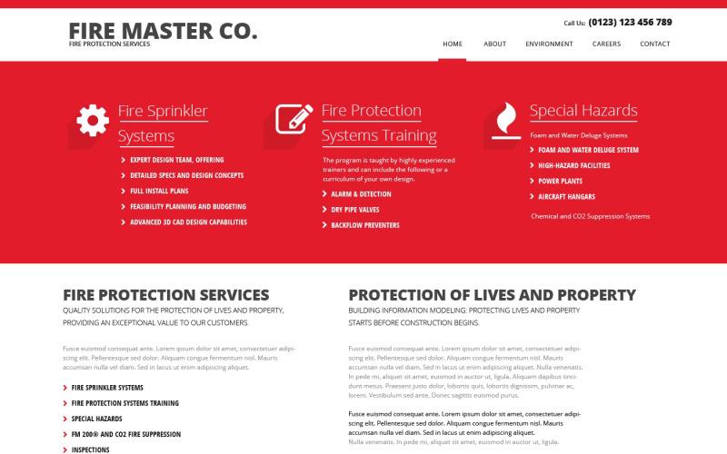 Brandkårens responsiva webbplatsmall