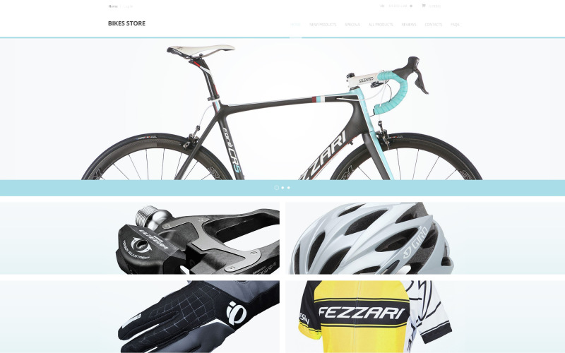 Cyklar lagrar ZenCart-mall