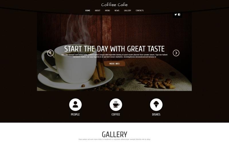 Kaffe för friskhet Joomla-mall