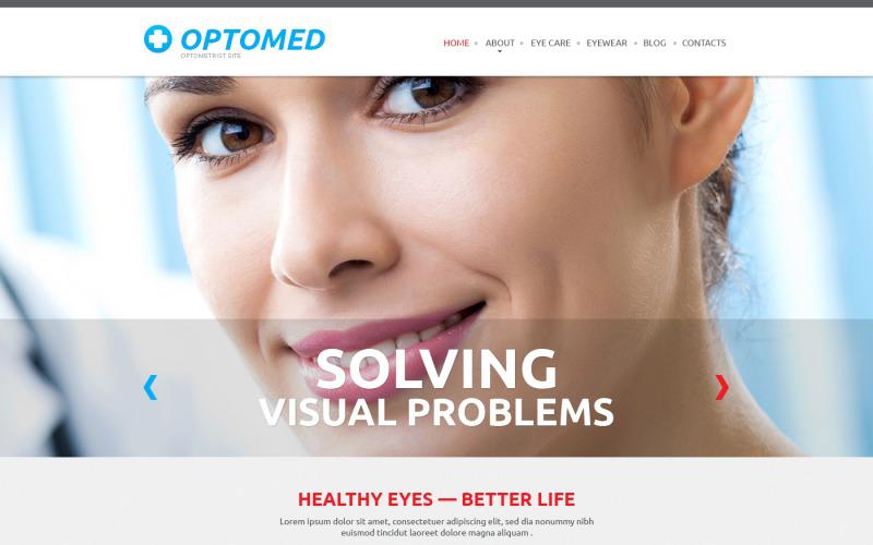 Optikerns responsiva webbplatsmall