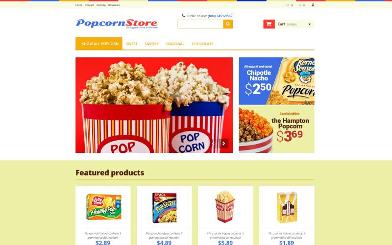 Salt  Sweet Popcorn PrestaShop Theme