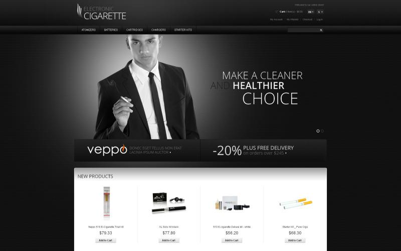 Tobakssvarande Magento-tema