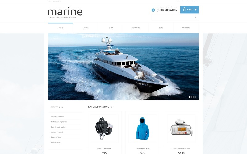 Yachting Responsive WooCommerce Theme