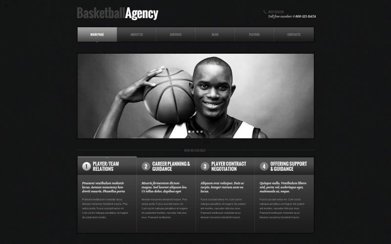 Адаптивная тема WordPress для баскетбола