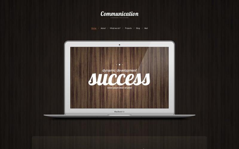 Адаптивная тема WordPress для коммуникаций