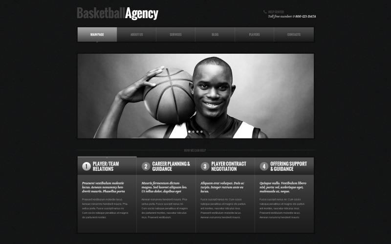 Basketresponsivt WordPress-tema