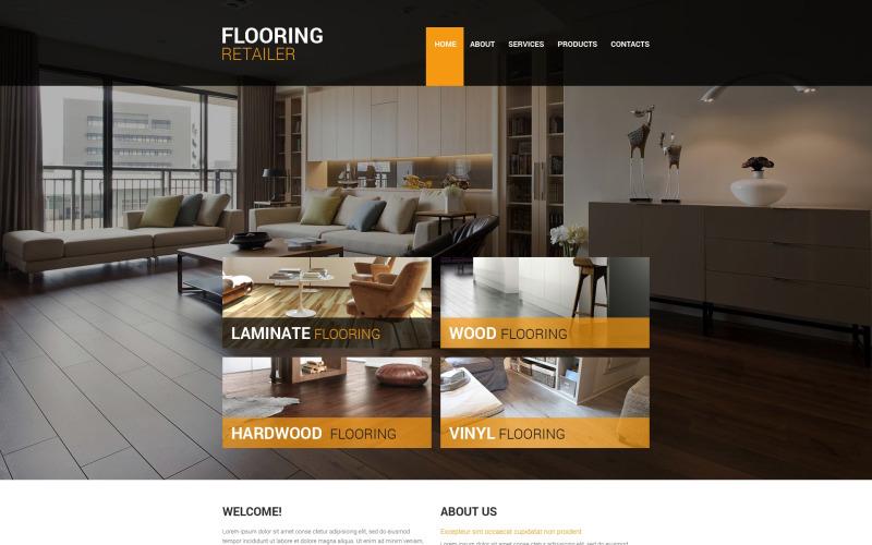 Golv Responsive webbplats mall