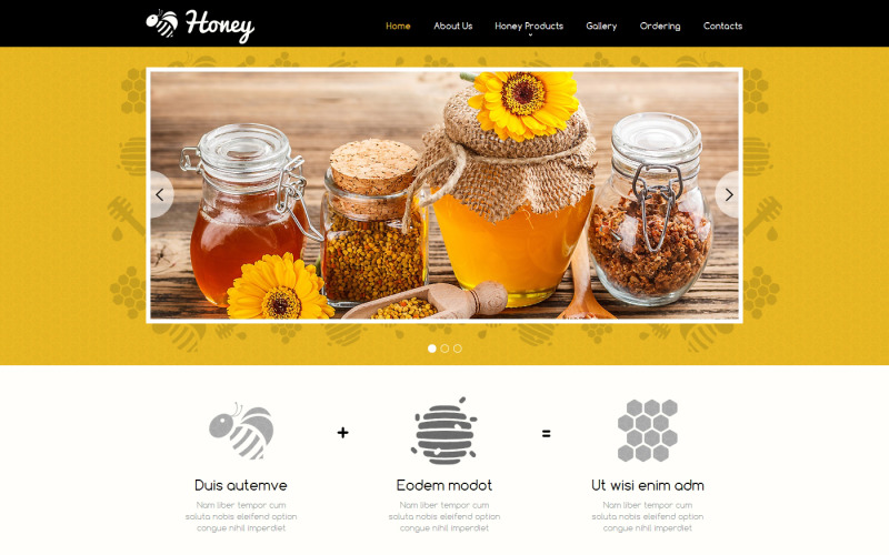 Honey Store-responsiv webbplatsmall