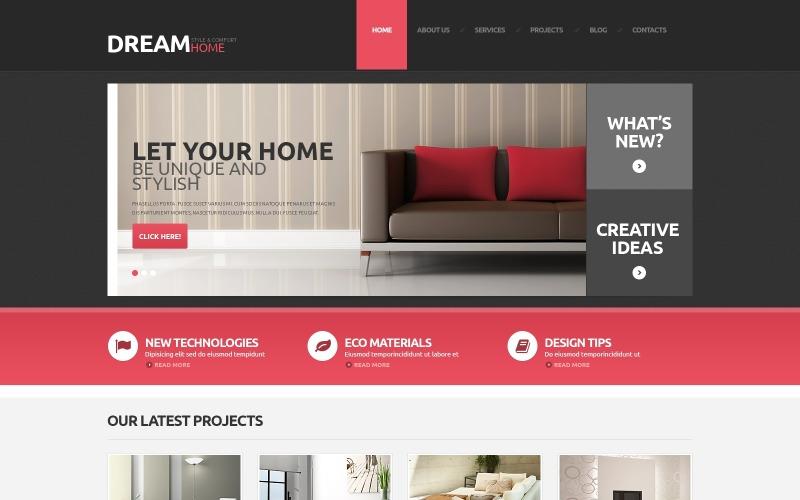 Inredning och design responsivt WordPress-tema