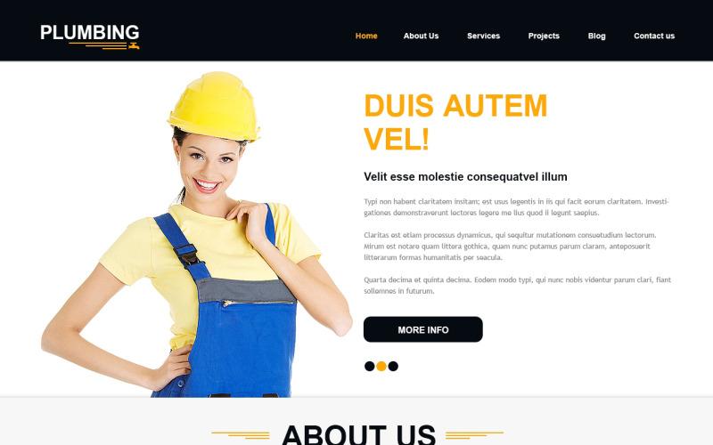 Joomla-mall för byggföretag