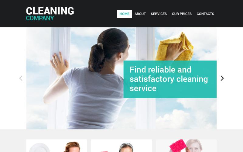 Rengöringsresponsiv webbplatsmall