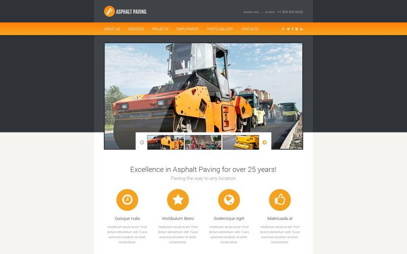 Responsiv webbplatsmall för samhällsbyggnad