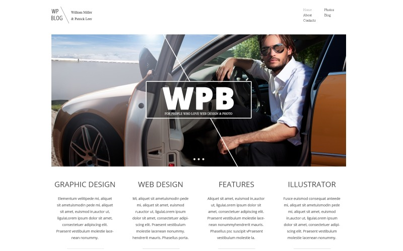 WordPress-tema för personlig designintegration