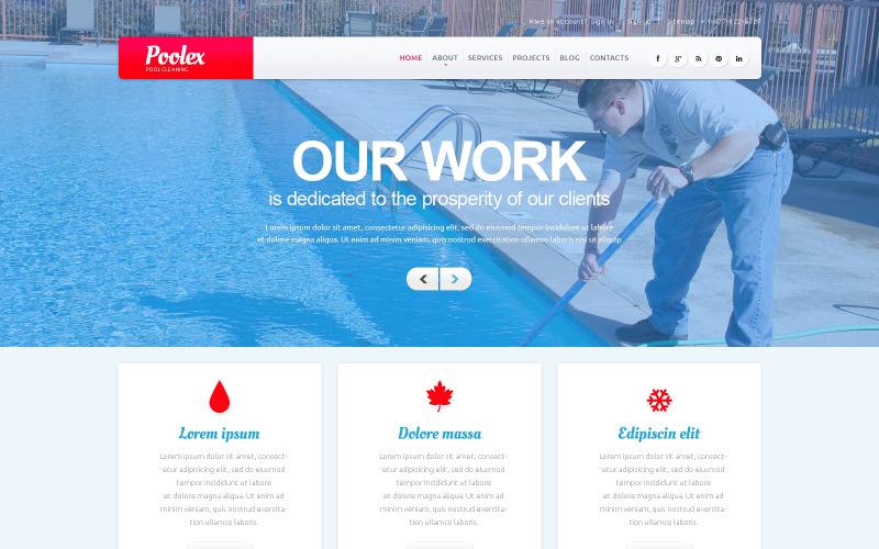 WordPress-tema för poolstädföretag