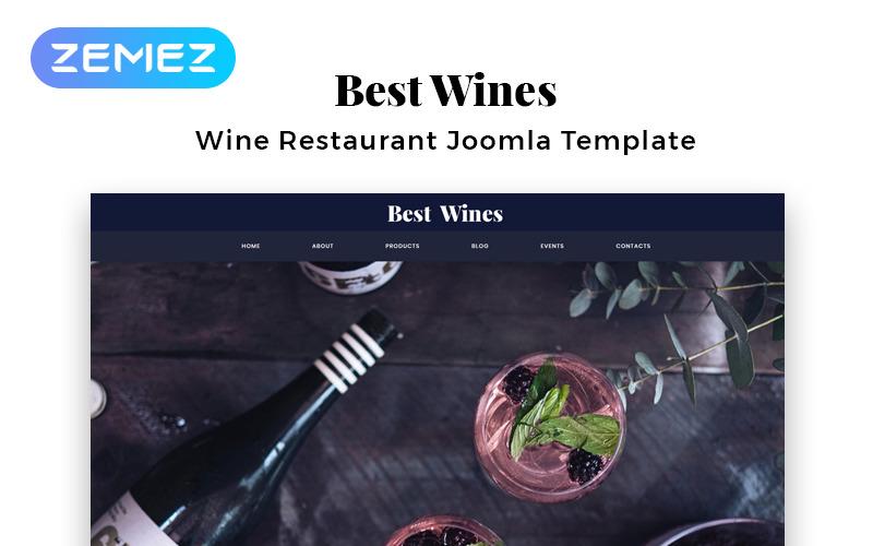 Bästa viner - Elegant Joomla-mall för vin med flera sidor