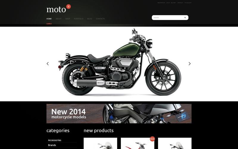 Motorsportens responsiva WooCommerce-tema