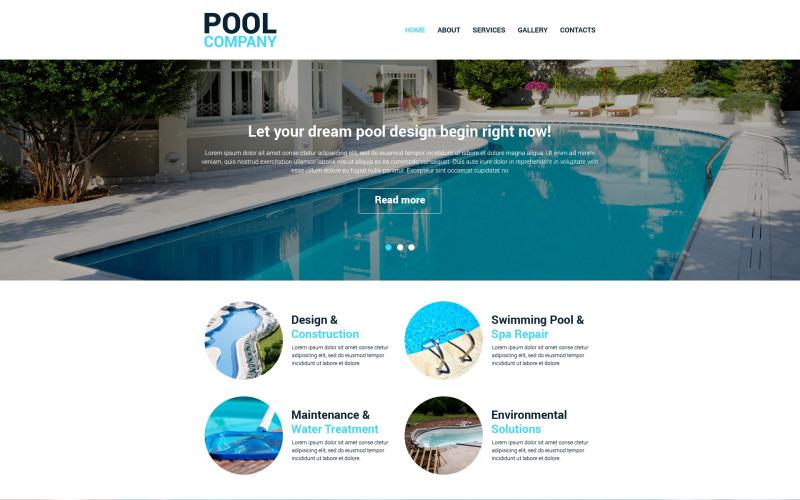 Responsiv webbplatsmall för simbassäng
