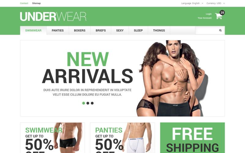Mens Underwear PrestaShop Theme