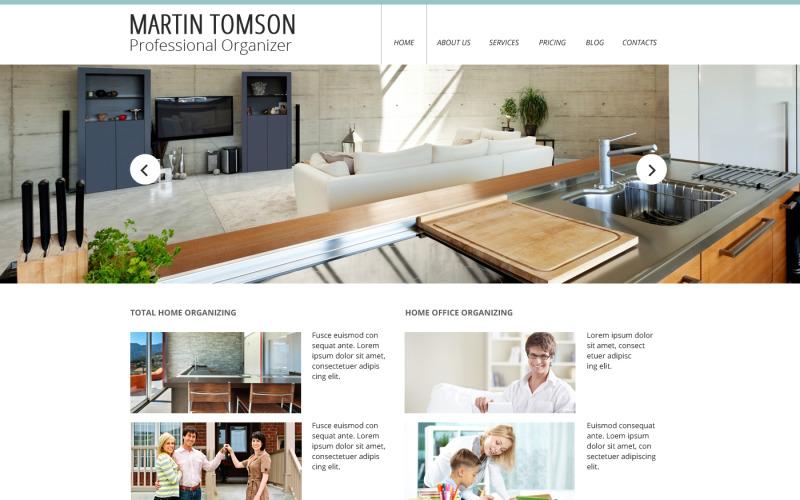 Modelo de site responsivo de design de interiores