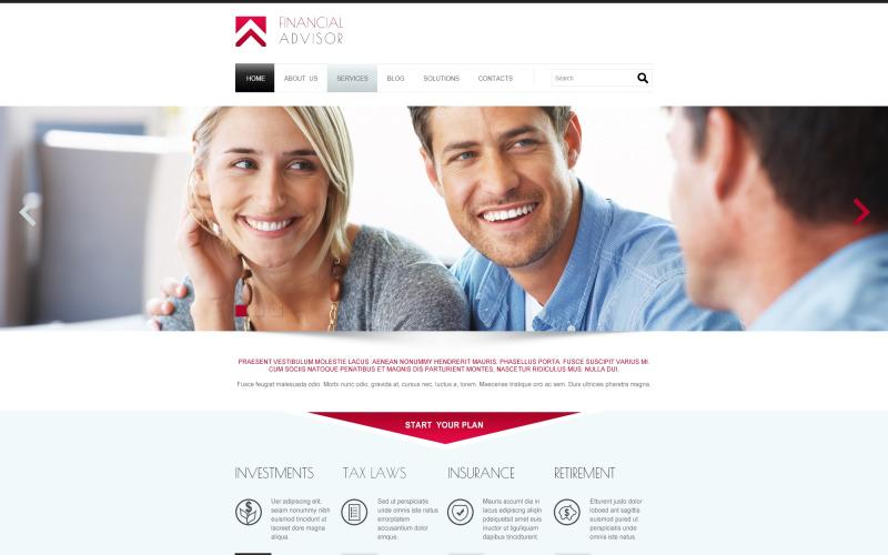 Responsiv Joomla-mall för finansiell rådgivare