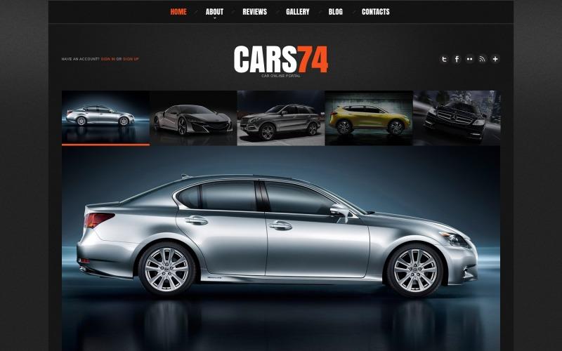 WordPress-tema för bilhandlare