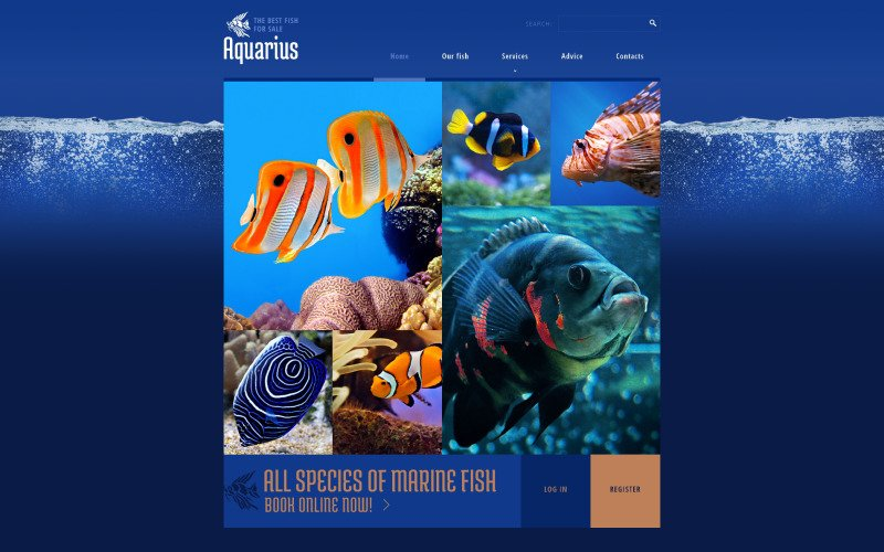 Fish Responsive Website Template