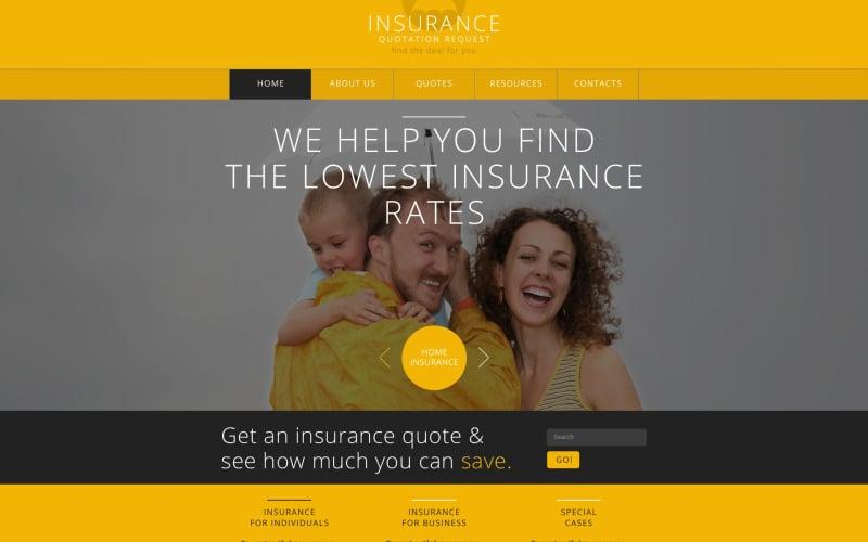 Insurance Responsive Website Template