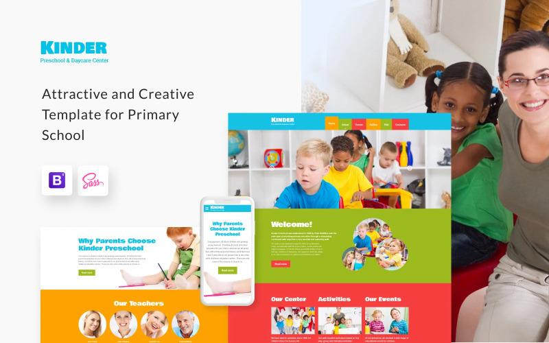Kinder - дошкольный центр HTML5