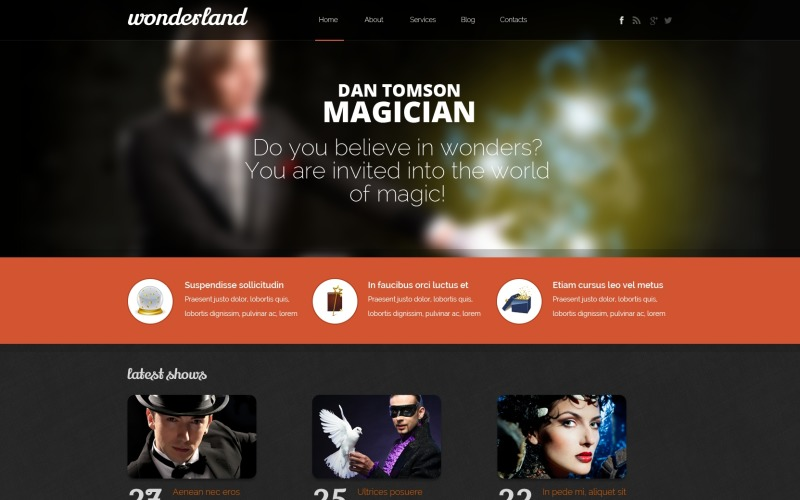 Personal Page Drupal Template
